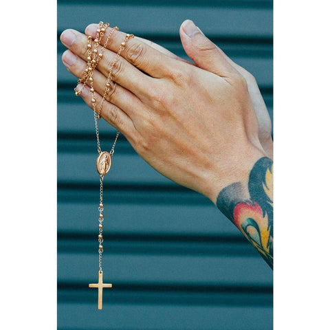 *Mister Rosary Necklace - Rose Gold - Mister SFC - Fashion Jewelry - Fashion Accessories