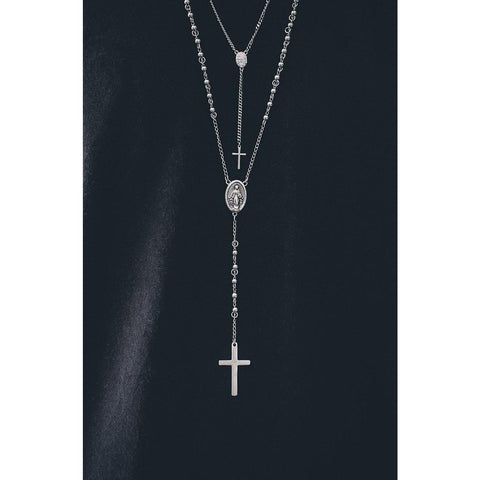 *Mister Rosary Plus Necklace - Chrome - Mister SFC - Fashion Jewelry - Fashion Accessories