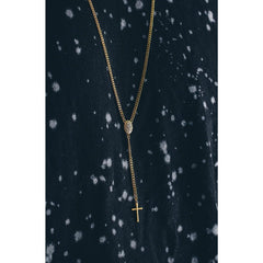 *Mister Rosary Plus Necklace - Gold
