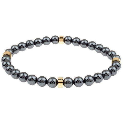 Mister Royal Bead Bracelet - Gunmetal & Gold - Mister SFC - Fashion Jewelry - Fashion Accessories