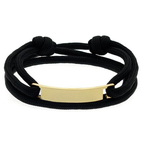 Mister Script Bracelet - Black & Gold - Mister SFC - Fashion Jewelry - Fashion Accessories