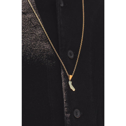 Mister *State CA Necklace - Gold - Mister SFC - Fashion Jewelry - Fashion Accessories