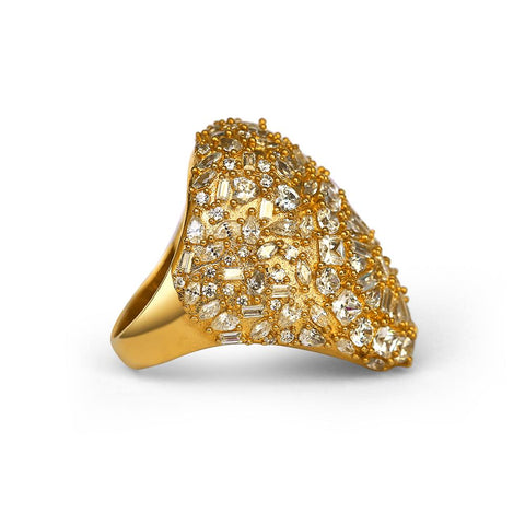 Mister Diamond Mask Ring - Gold