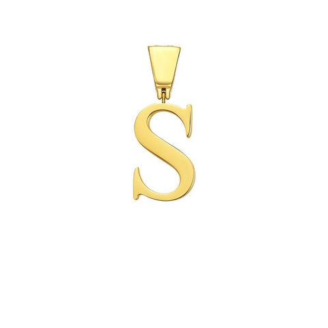 Mister Letter S-V Pendant - Gold - Mister SFC - Fashion Jewelry - Fashion Accessories