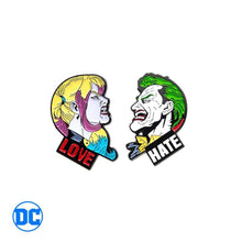 Load image into Gallery viewer, DC Comics™ Joker & Harley Quinn Love Hate Enamel Pin