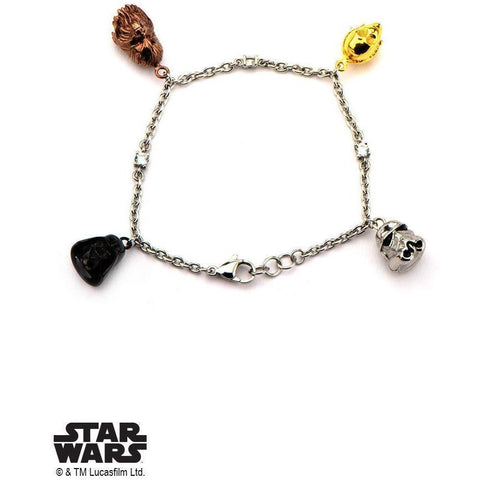 Star Wars Charm Bracelet - Chrome-METAL BRACELET-Mister SFC