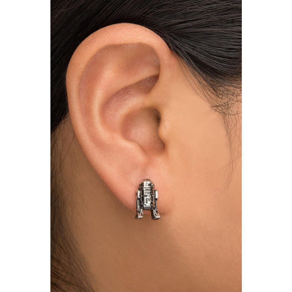 Star Wars R2D2 Earrings - Chrome - Mister SFC - Fashion Jewelry - Fashion Accessories