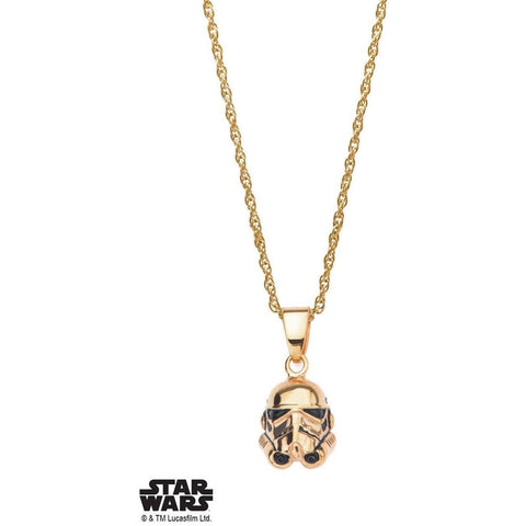 Star Wars Stormtrooper Necklace - Gold - Mister SFC - Fashion Jewelry - Fashion Accessories