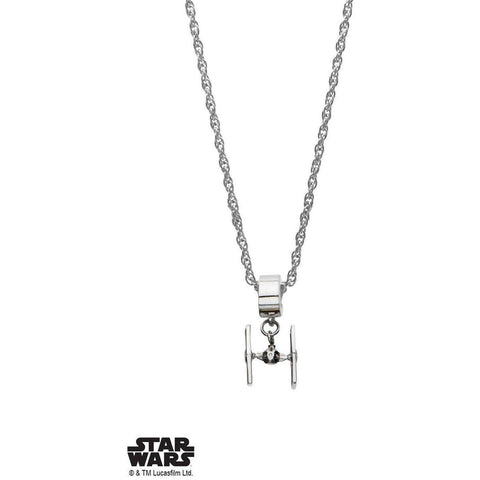 Star Wars Tie Fighter V2 Necklace - Chrome - Mister SFC - Fashion Jewelry - Fashion Accessories