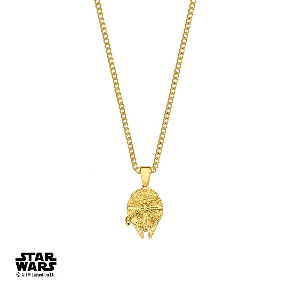 Star Wars™ Millenium Falcon Necklace - Gold