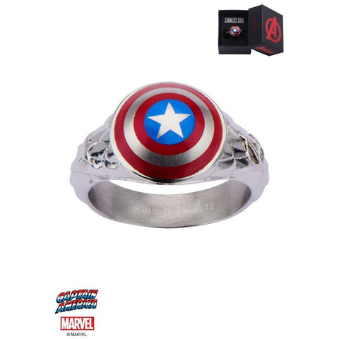 The Marvel Captain America Ring - Chrome - Mister SFC - Fashion Jewelry - Fashion Accessories