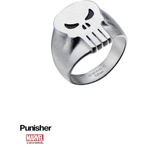 The Marvel Punisher Logo Ring - Chrome - Mister SFC - Fashion Jewelry - Fashion Accessories