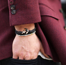 Load image into Gallery viewer, Thread Etiquette The Rocker Fella Anchor Bracelet