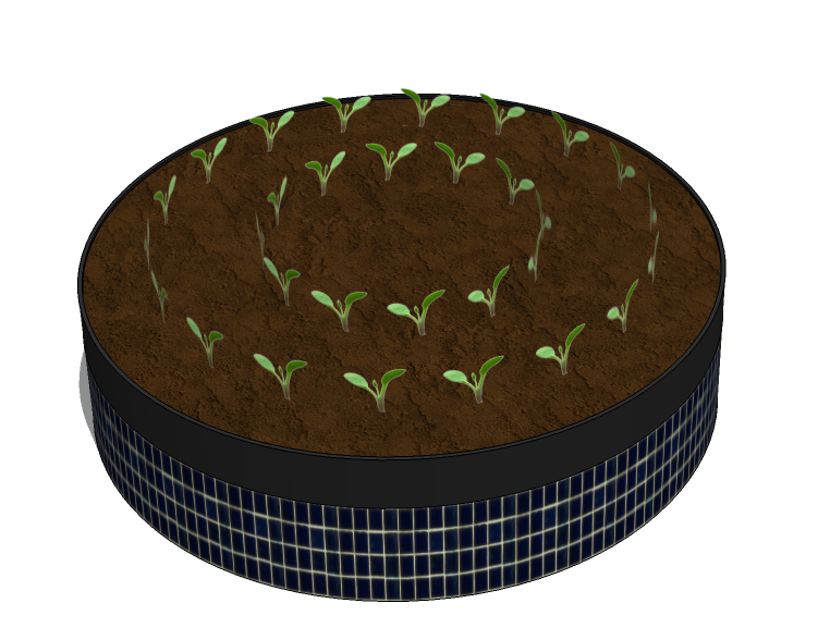 Round Garden Bed - 1 ft tall