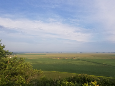 RAGBRAI 2018 view of Western Iowa Loess Hills