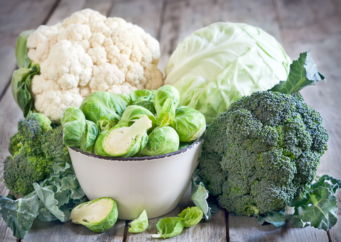 Cruciferous Vegetables Broccoli Brussel's Sprouts Cabbage Cauliflower