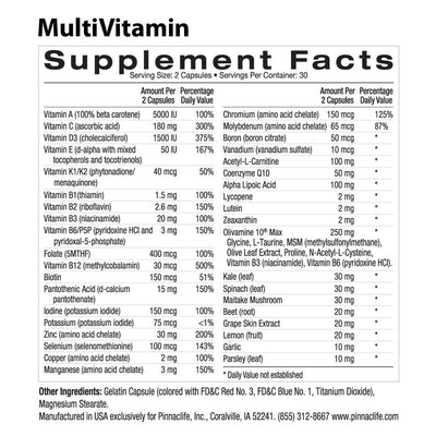 MultiVitamin ingredients