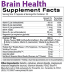 Brain Health Back Label