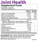Joint Health Back Label