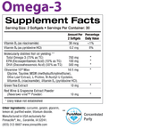 Omega-3 Back Label