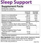 Sleep Support Back Label