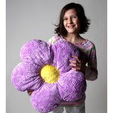 "18"" Lavender Minky Throw Flower Pillow"