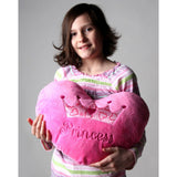"Princess Heart 15"" Pink Minky <br> Pillow"