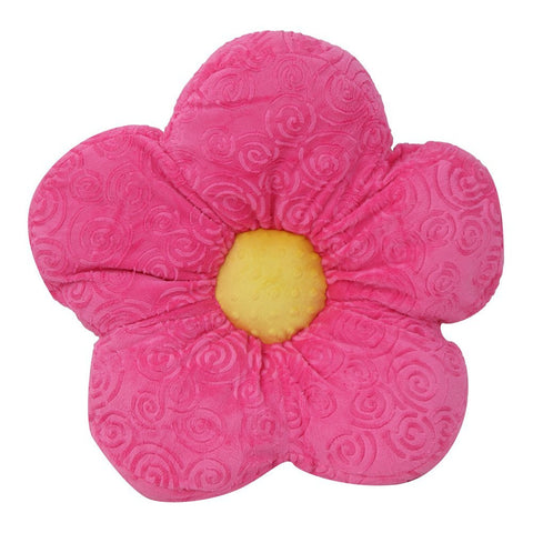 "18"" Pink Minky Throw <br> Flower Pillow"