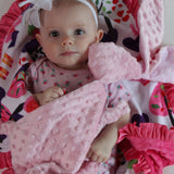 Pink Bunny Minky Security Blanket