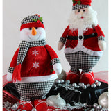Holiday Houndstooth Standing Santa, 19""