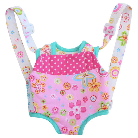 Patchwork Pink Doll Carrier
