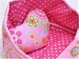 Doll Heart Carry Bed, Pink