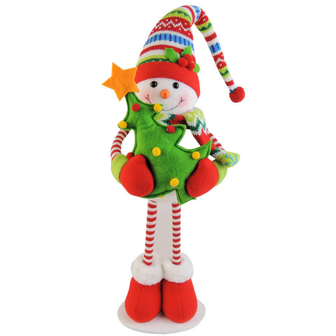 Winter Sweater Tree Snowman, 17""