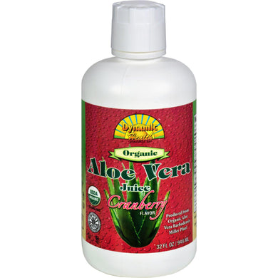 Dynamic Health Organic Aloe Vera Juice Cranberry - 32 Fl Oz