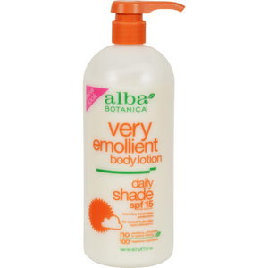 Alba Botanica Very Emollient Natural Body Lotion Spf 15 - 32 Fl Oz