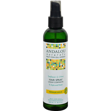 Andalou Naturals Perfect Hold Hair Spray Sunflower And Citrus - 8.2 Fl Oz