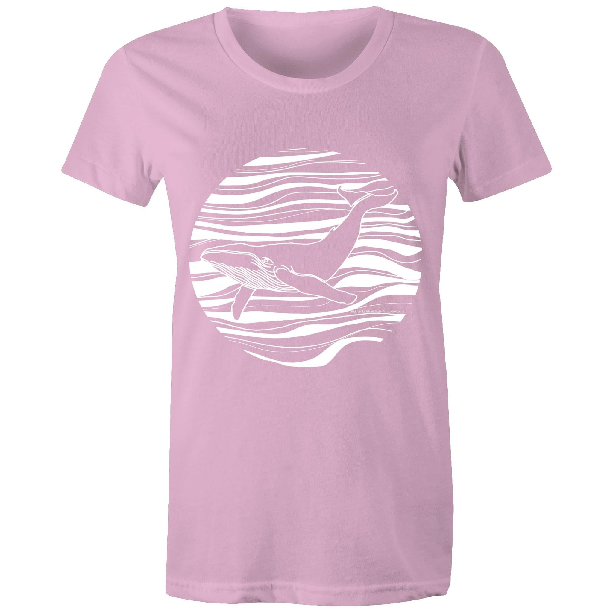 CUSTOM Ladies WHALE T shirt - AS Colour - Women's Maple Tee