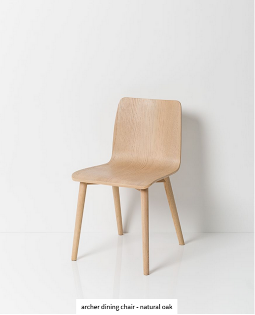 Papaya at Starfish Studio. Archer dining chair