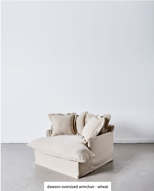 Papaya at Starfish Studio.Dawson oversized armchair