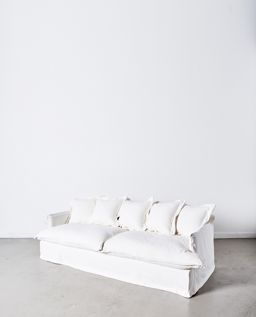 Papaya at Starfish Studio.Dawson 3 seater sofa - white