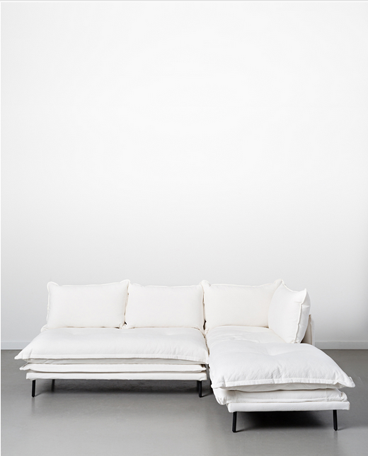 Papaya at Starfish Studio. Lucas two-piece modular sofa - white