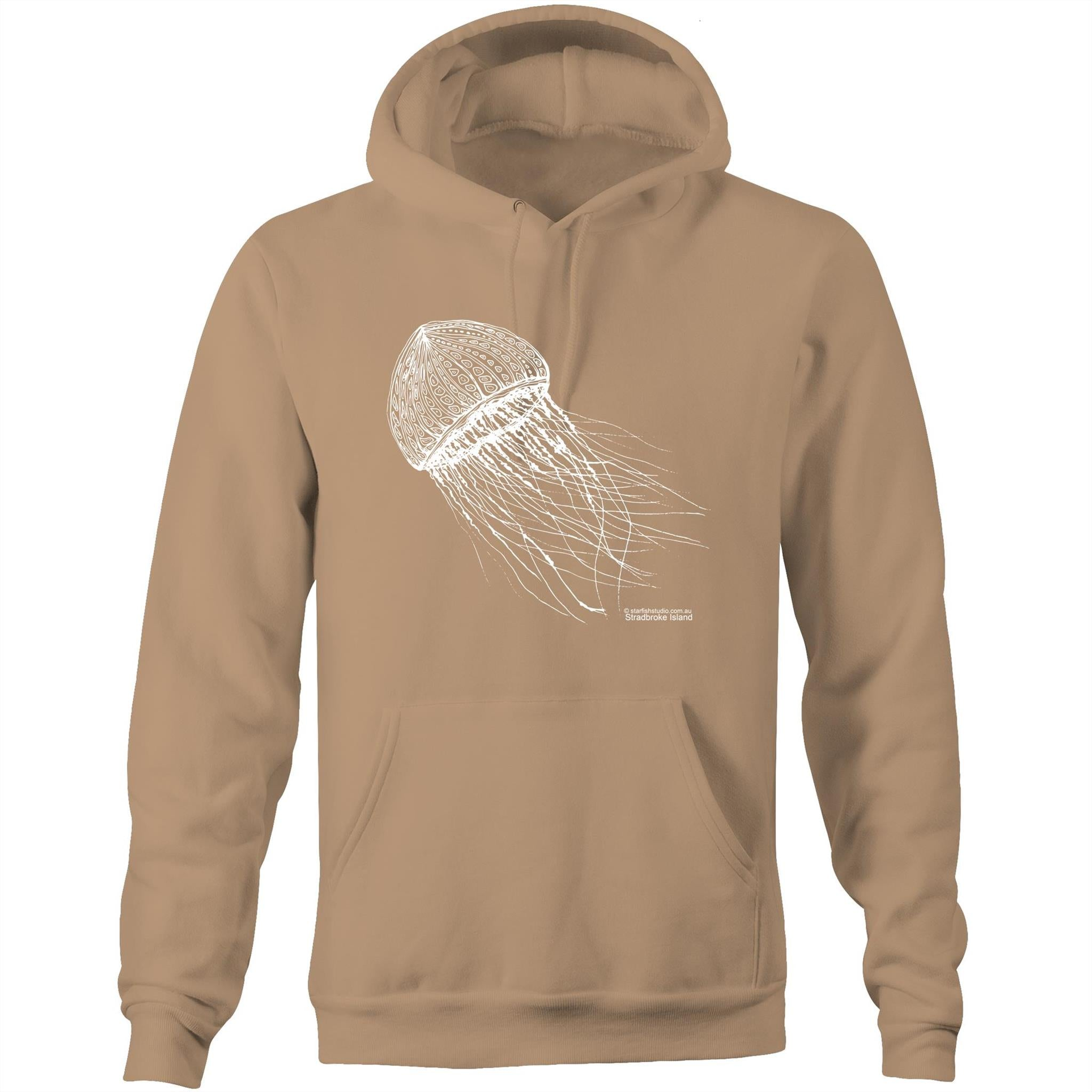 CUSTOM Unisex JELLYFISH - Pocket Sweatshirt with Hood