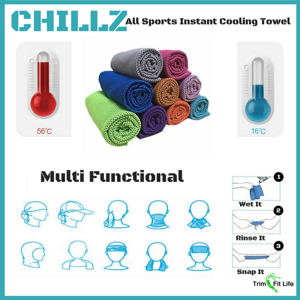 CHILLZ- All Sports Cooling Towel for Instant Relief