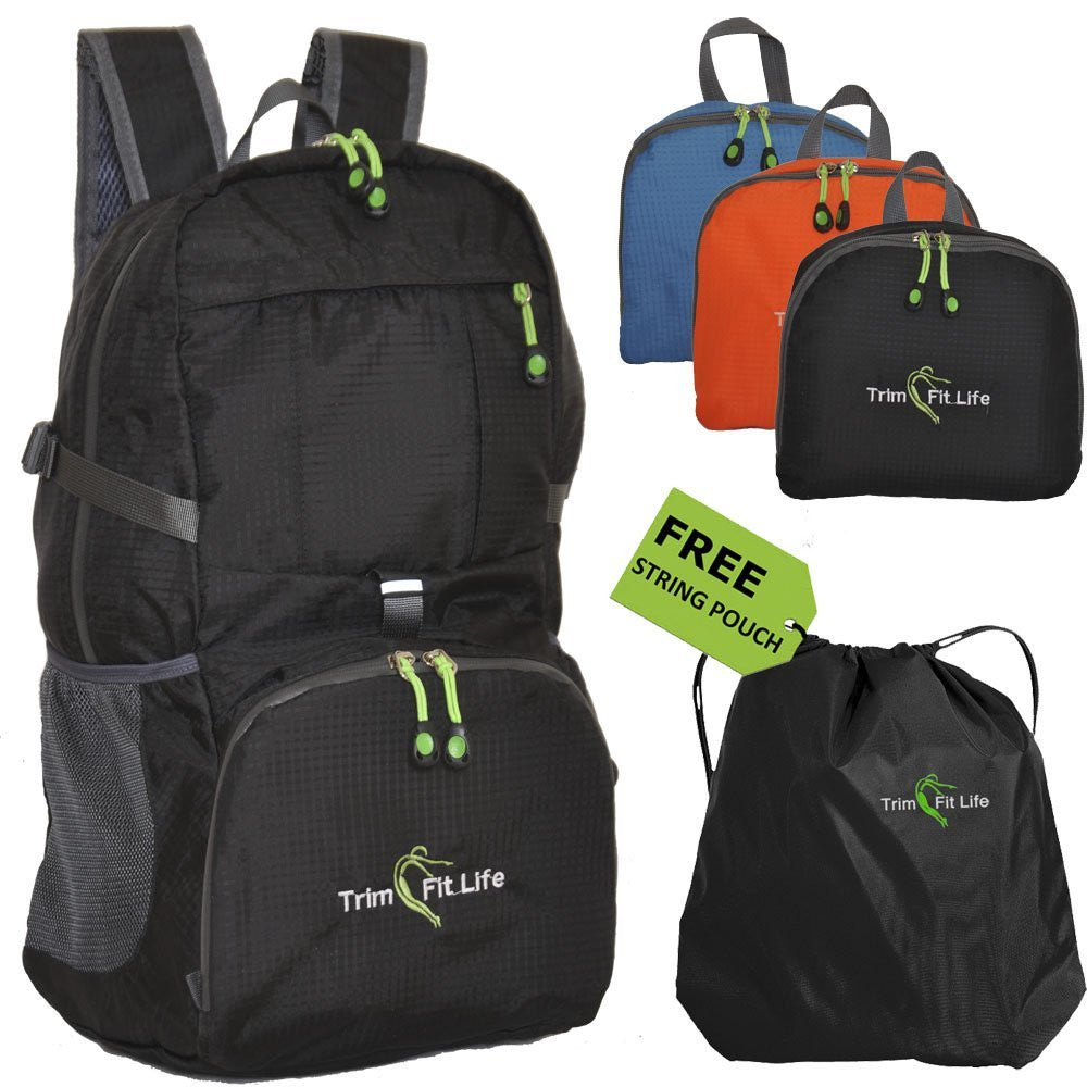 e8e3cbfdc7 TravPack- Lightweight Packable Travel Backpack – TrimFitLife