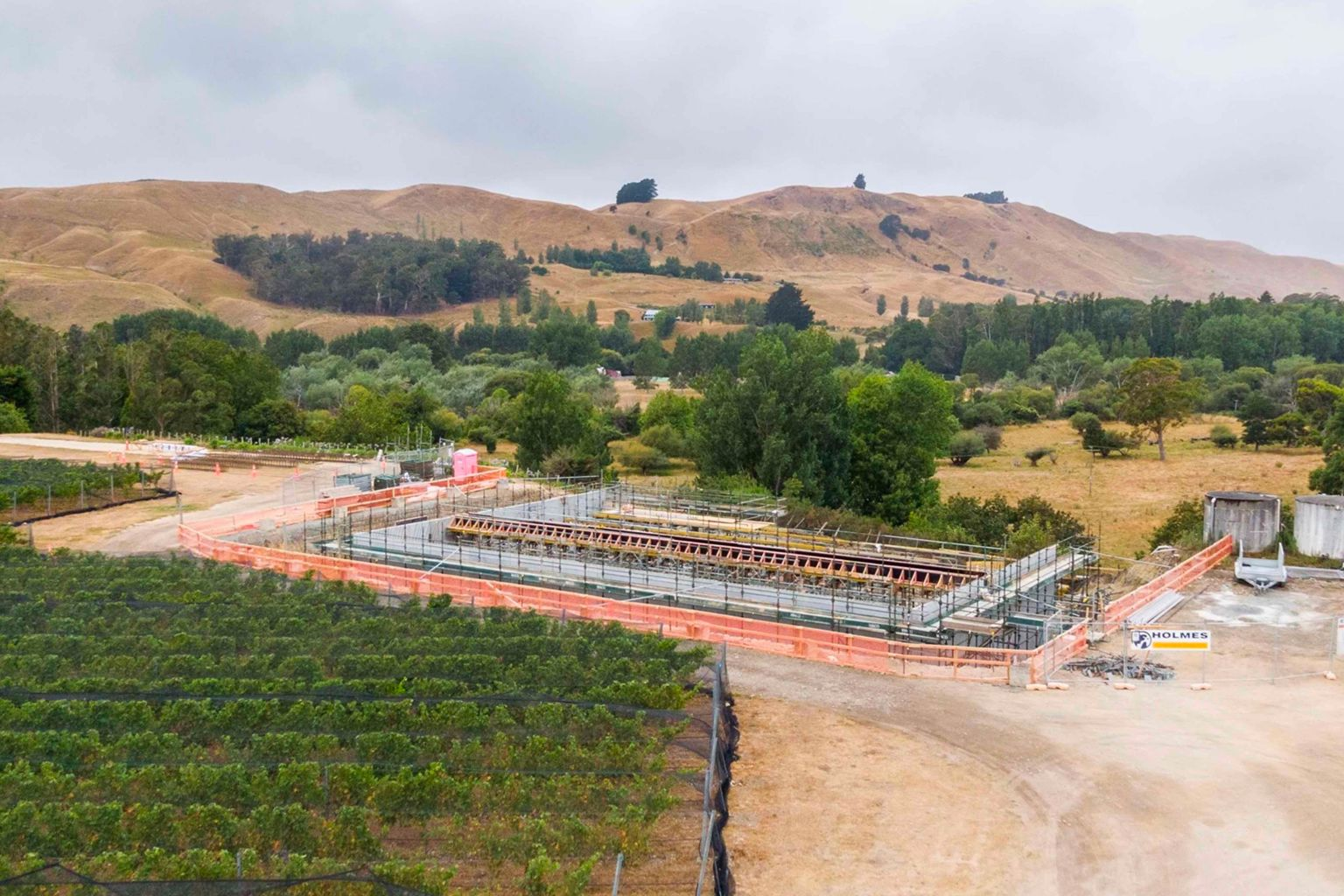 Coming soon - Wine and Gin destination in Martinborough: Construction is full steam ahead