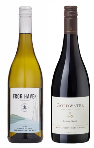 Festive Bundle <br> 2015 Goldwater Reserve Pinot Noir and 2015 Frog Haven Sauvignon Blanc