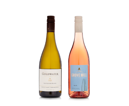 Goldwater Sauvignon Blanc 2017 and Grove Mill Rose 2017 - 12 bottles