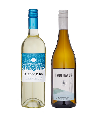Clifford Bay Sauvignon Blanc 2016 and <br> Frog Haven Sauvignon Blanc 2016 - 12 bottles