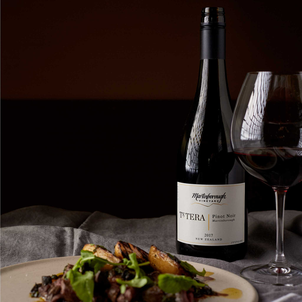 Martinborough Vineyard Te Tera Pinot Noir Bottle and food