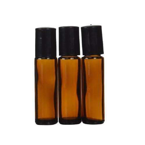 10 ML Stainless Steel Ball Amber Roller Bottles Special (3-Pack) - Instant Essentials